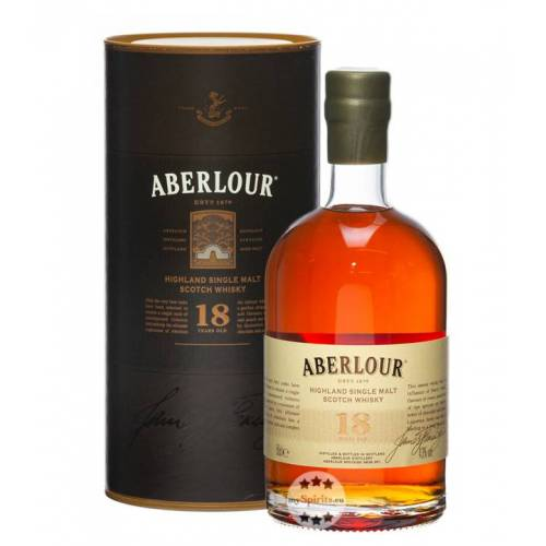 Aberlour 18 Jahre Single Malt Scotch Whisky (43 % Vol., 0,5 Liter)
