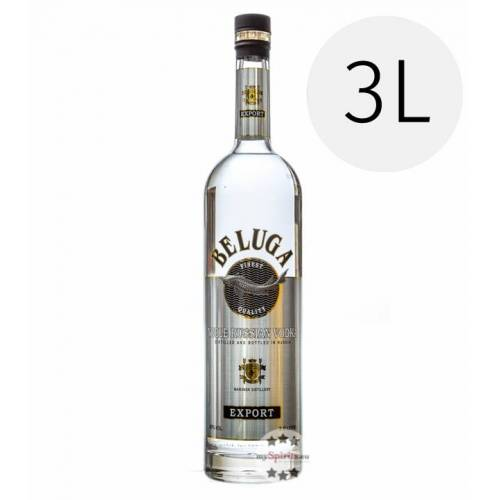 Beluga Vodka Beluga Noble Russian Vodka 3 L (40 % vol., 3,0 Liter)