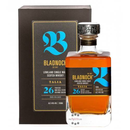 Bladnoch Distillery Bladnoch Talia 26 Jahre Lowland Single Malt Whisky (44 % Vol., 0,7 Liter)