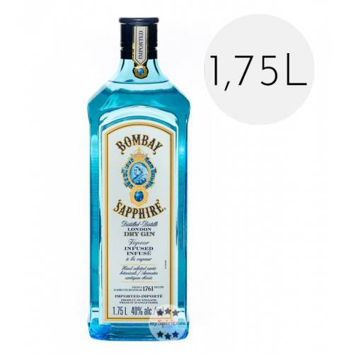 Sapphire Bombay Sapphire Gin 1,75L (40 % Vol., 1,75 Liter)