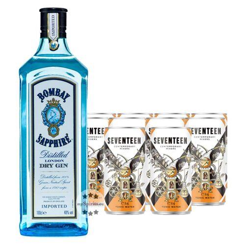 Sapphire Bombay Sapphire Gin & 1724 Tonic Set (40 % vol., 3,0 Liter)