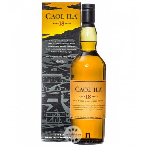 Caol Ila Distillery Caol Ila 18 Jahre Single Malt Whisky (43 % vol., 0,7 Liter)