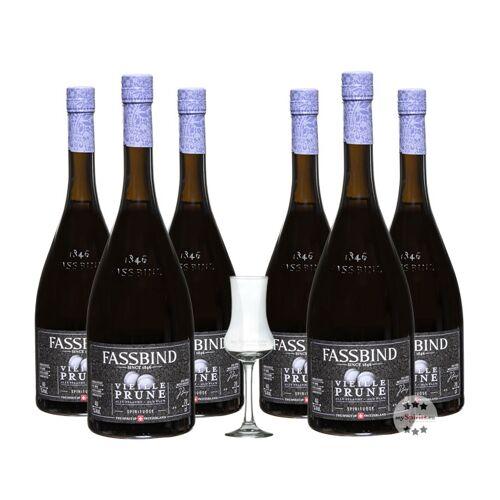 Fassbind Sechserpack Alte Pflaume - Vieille Prune (40% Vol., 0,7 Liter)