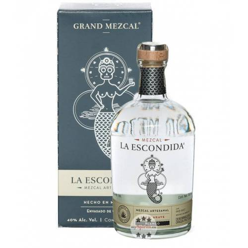 Grand Mezcal La Escondida Mezcal Blanco (40 % Vol., 0,7 Liter)