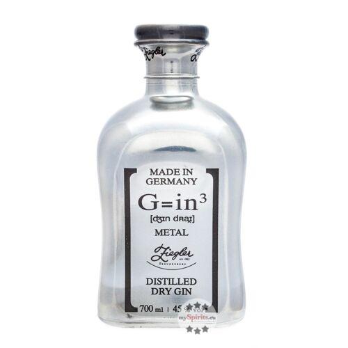 Brennerei Ziegler Ziegler Gin G=in3 Metal Platin (45 % vol., 0,7 Liter)