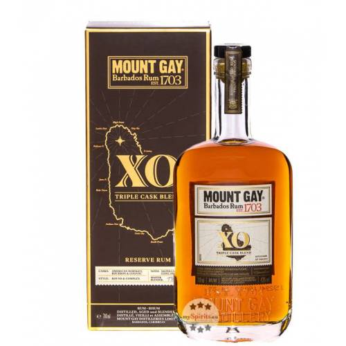 Mount Gay 1703 Barbados Rum Mount Gay XO Barbados Rum (43 % Vol., 0,7 Liter)