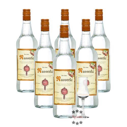 Fein 6 x Prinz Nusserla + gratis Schnapskelch (34 % Vol., 6,0 Liter)