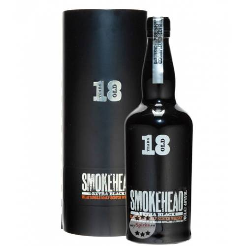 Ian Macleod Distillers Smokehead 18 Jahre Extra Black Whisky (46 % Vol., 0,7 Liter)