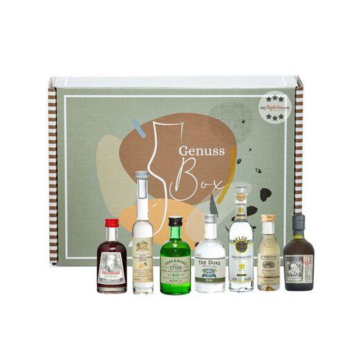 mySpirits Tasting Box No. 1 mit 7 Spirituosen (35 - 50 % Vol., 0,32 Liter)
