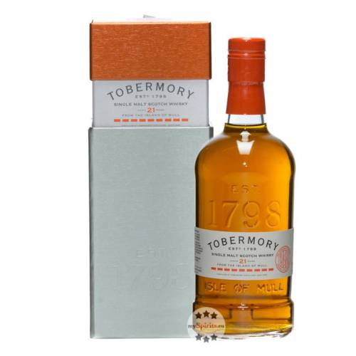 Tobermory Distillery Tobermory 21 Oloroso Whisky (46,3 % Vol., 0,7 Liter)