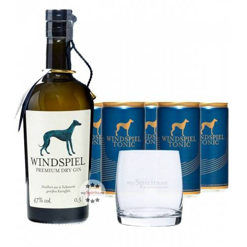 Windspiel Manufaktur Windspiel Gin & Windspiel Tonic Set (47 % vol., 1,5 Liter)