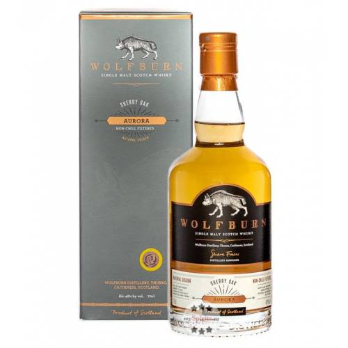 Wolfburn Distillery Wolfburn Aurora Sherry Oak Single Malt Scotch Whisky (46 % Vol., 0,7 Liter)