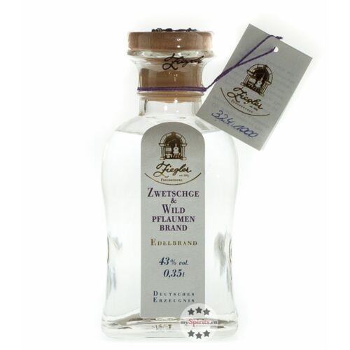 Brennerei Ziegler Ziegler Zwetschge & Wildpflaumenbrand  (43 % vol., 0,35 Liter)
