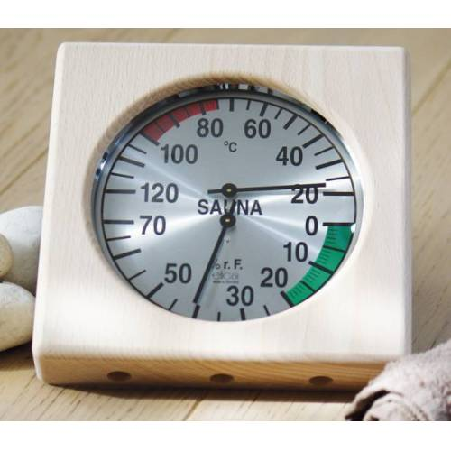 WARDA Sauna Klimamesser / Hygrometer / Thermometer