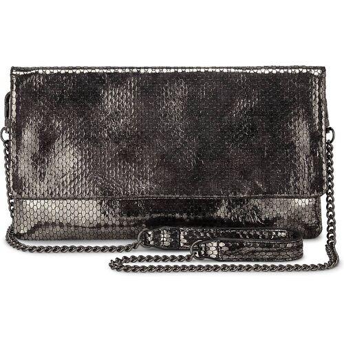 Buffalo, Metallic-Clutch in silber, Clutches & Abendtaschen für Damen Gr. 1