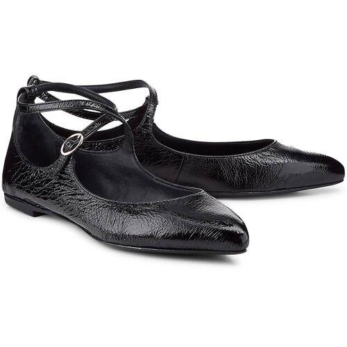 AGL, Lack-Ballerinas in schwarz, Ballerinas für Damen Gr. 40