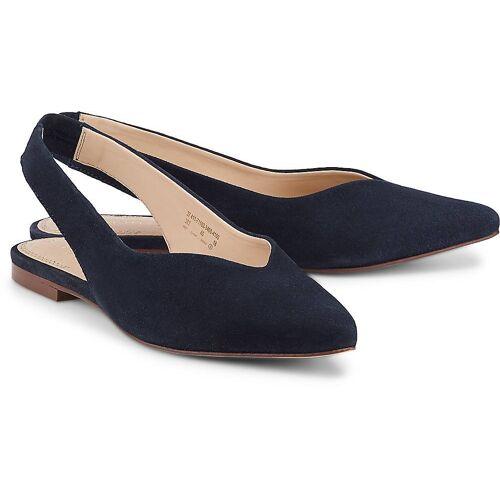 Bugatti Sling-Ballerina in blau, Ballerinas für Damen Gr. 39