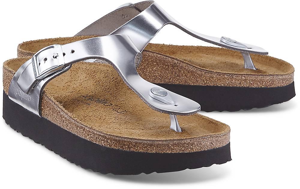 Papillio, Gizeh Platform Nl in silber, Sandalen für Damen Gr. 38