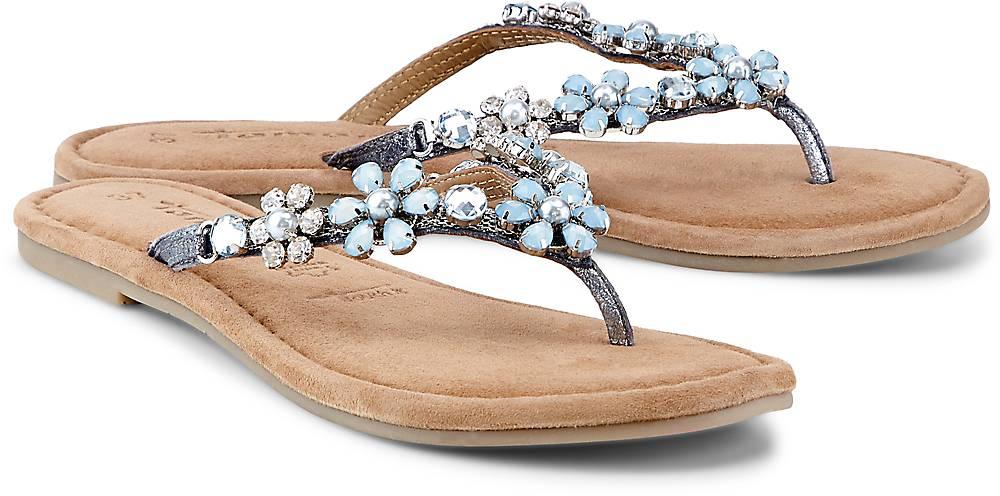 Tamaris Fashion-Zehentrenner in blau, Sandalen für Damen Gr. 38