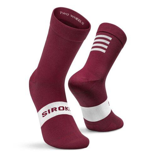 SIROKO -25% Fahrradsocken Siroko S1 Maroon Volata