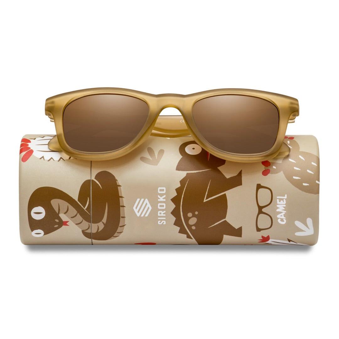 SIROKO -40% Kinder Sonnenbrillen Siroko Camel