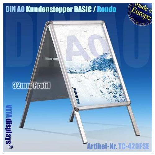 VITAdisplays® DIN A0 Kundenstopper (Rondo) B-WARE