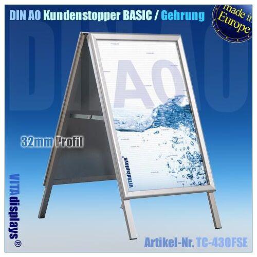 VITAdisplays® Kundenstopper DIN A0 (Gehrung)  B-WARE