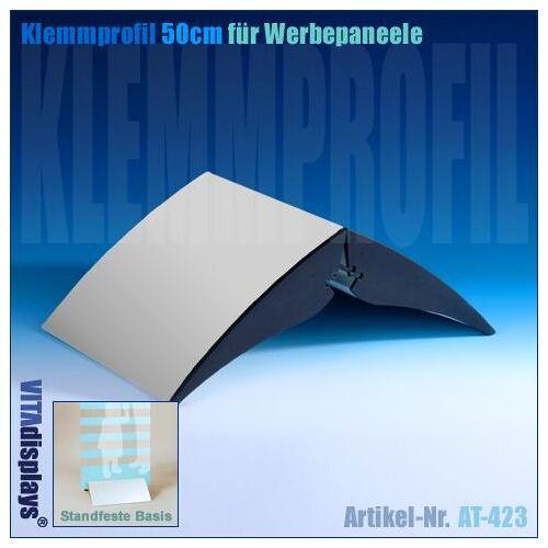 Kunstdünger Klemmprofil (Alu) für Werbepaneele (50,0cm)