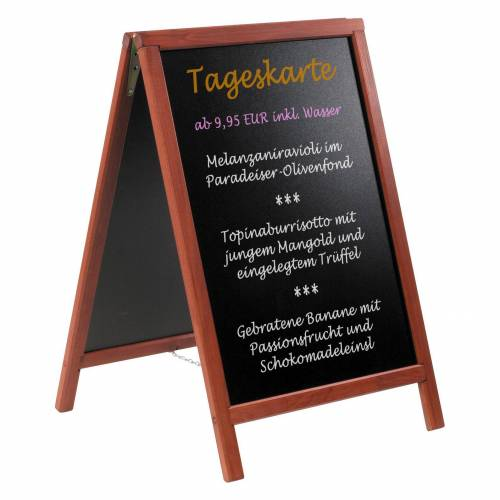 VITAdisplays® Kreidetafel / Aufsteller MUMBAI (55x85cm)
