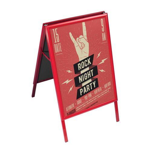 VITAdisplays® DIN A1 Kundenstopper / Werbeaufsteller / rot