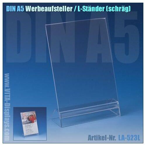 Taymar DIN A5 Werbe-Aufsteller / L-Ständer (schräg)