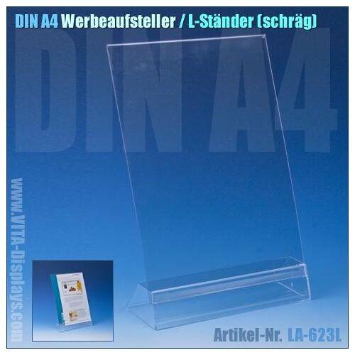 Taymar DIN A4 Werbe-Aufsteller / L-Ständer (schräg)