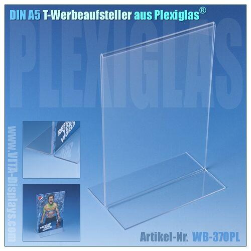 VITAdisplays® DIN A5 T-Aufsteller aus Plexiglas®