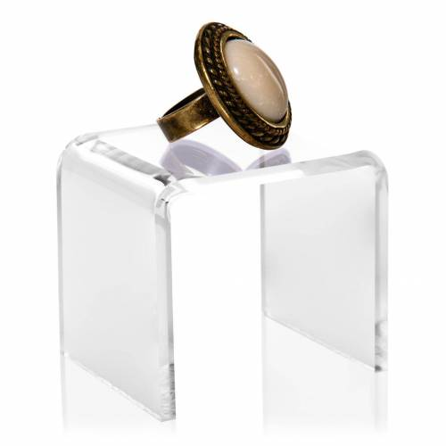 VITAdisplays® U-Aufsteller / Präsentations-Winkel (4x4cm) aus PLEXIGLAS®