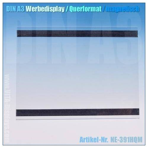 VITAdisplays® DIN A3 Werbe-Display / quer (magnetisch)