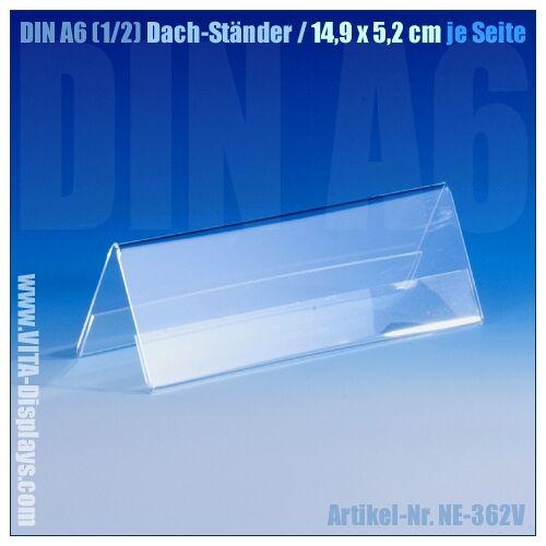 VITAdisplays® DIN A6 (1/2) Dach-Ständer / V-Aufsteller