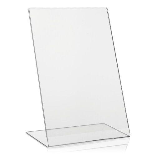 VITAdisplays® DIN A4 Werbeaufsteller L-Ständer Tisch-Aufsteller aus PLEXIGLAS®