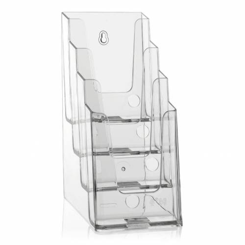 Nedco DIN lang Tisch-Prospektständer DL Tischprospekthalter (4 Etg.), Tischprospektständer