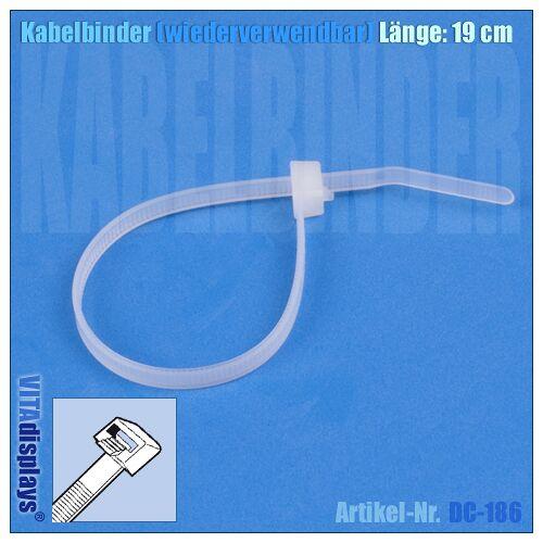 Deflecto Kabelbinder wiederverwendbar / Länge: 190 mm