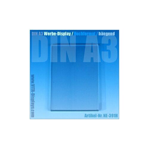 VITAdisplays® Posterrahmen DIN A3 / Werbe-Display / hängend (OL)