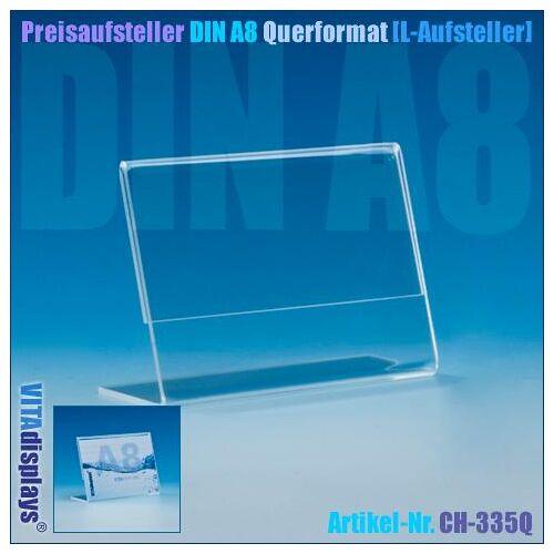 Deflecto Preisaufsteller DIN A8 Querformat (L-Aufsteller)