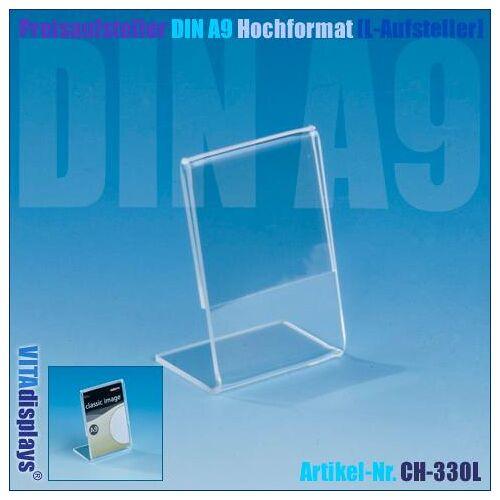 Deflecto Preisaufsteller DIN A9 Hochformat (L-Aufsteller)