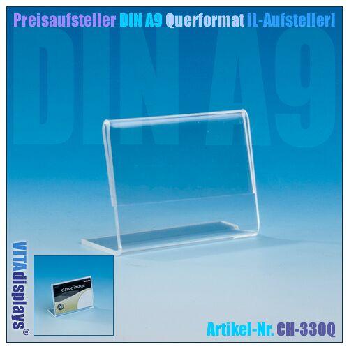 Deflecto Werbeaufsteller DIN A9 Querformat (L-Aufsteller)