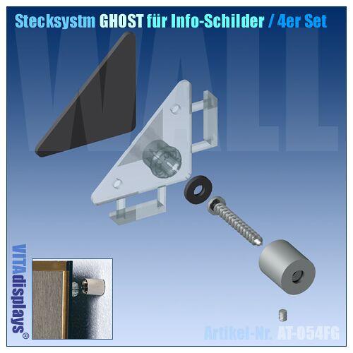 Kunstdünger Stecksystem GHOST für Info-Schilder (4er SET)