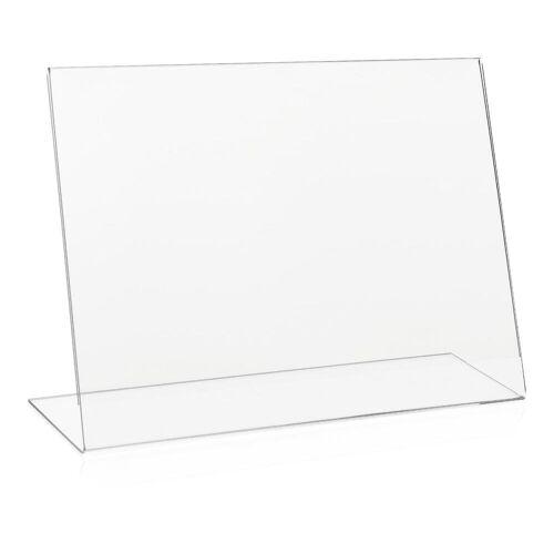 VITAdisplays® DIN A4 Tischaufsteller L-Ständer Werbeaufsteller aus PLEXIGLAS®