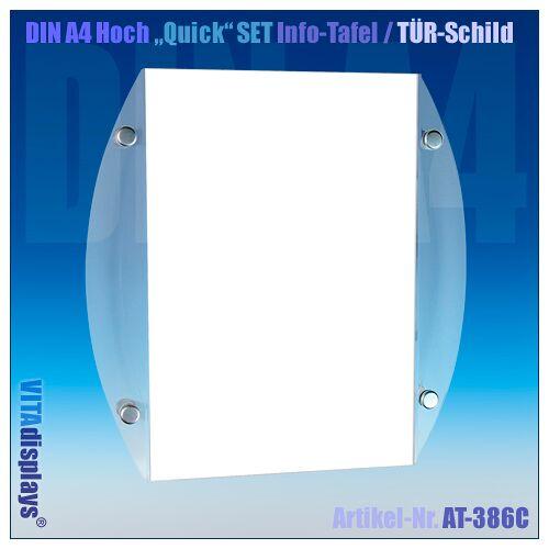 Kunstdünger DIN A4 Quick SET Info-Schild / CHROM