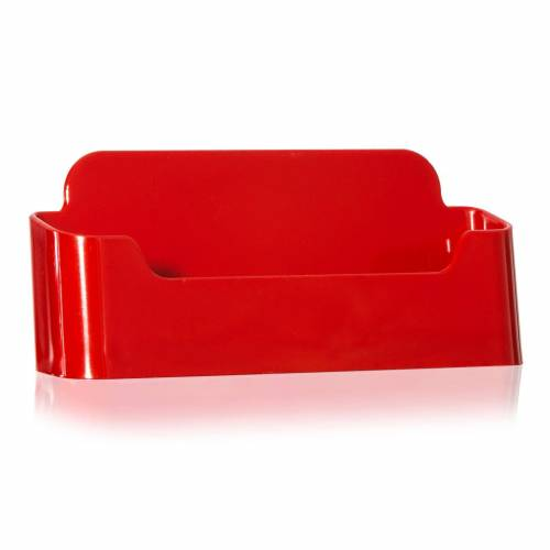 Nedco Visitenkarten-Halter / Visitenkarten-Ständer in rot