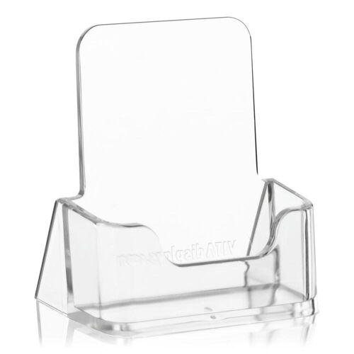 Nedco Visitenkartenhalter Hochformat glasklarer Visitenkartenständer, Visitenkartenständer