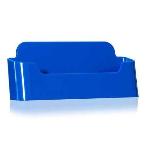 VITAdisplays® Visitenkartenhalter / Visitenkartenaufsteller in Blau