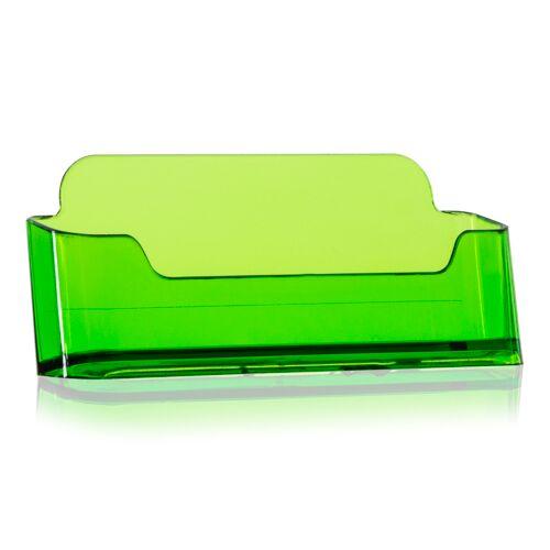 VITAdisplays® Visitenkartenhalter / Visitenkarten-Aufsteller in neon-grün